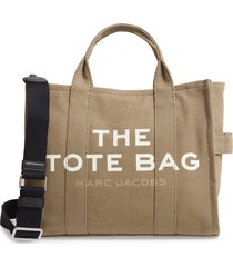 marc jacobs small traveler canvas tote - green