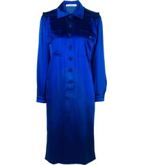 jean louis scherrer pre-owned mid-length shirt dress - blue