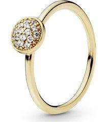 anel gota de ouro brilhante