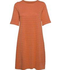 majken kort klänning orange jumperfabriken