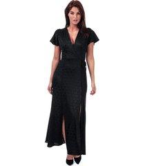 womens kandi polka jacquard wrap maxi dress