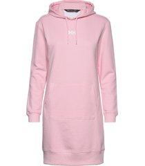 w active hoodie dress knälång klänning rosa helly hansen