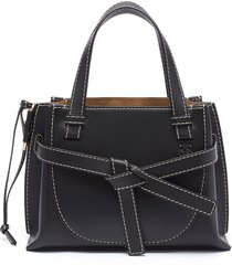 'gate' knotted belt top handle leather mini bag