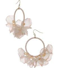 women's stella + ruby melody chiffon hoop earrings