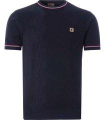 gabicci vintage 1973 newman knitted t-shirt | navy | v46gm12-nvy