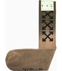 off-white arrow mid length socks omra001f21kni002
