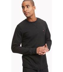 tommy hilfiger men's ermal crewneck t-shirt black - m