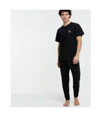 pijama chopp básico manga curta masculino