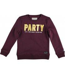retour zachte bordeaux sweater