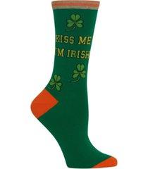 hot sox women's kiss me i'm irish socks