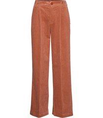 pants in corduroy w. elastic waistb wijde broek oranje coster copenhagen