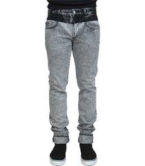 bicolored denim broeken