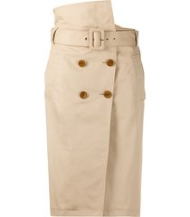 dorothee schumacher trench straight skirt - neutrals
