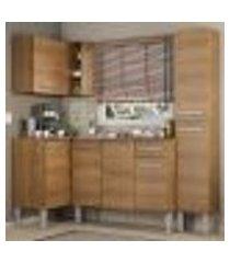 cozinha completa de canto madesa emilly song com armário, balcão e adega