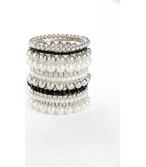bracciali perla (set 12 pezzi) (nero) - bpc bonprix collection