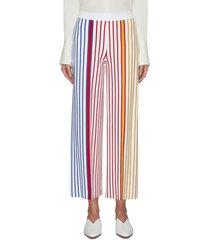pull-on stripe straight pants