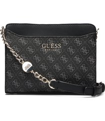 lorenna crossbody top zip bags small shoulder bags - crossbody bags svart guess