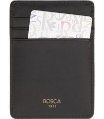 bosca old leather front pocket wallet in black at nordstrom