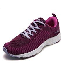 tenis lifestyle violeta-lila-blanco fila ws leomie