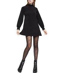 knit city long-sleeve mini dress
