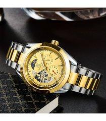 reloj, cinturón de acero para uñas real para-dorado