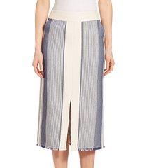 calico awning-stripe adelina skirt