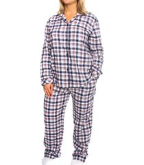 lady avenue cotton flannel long pyjama