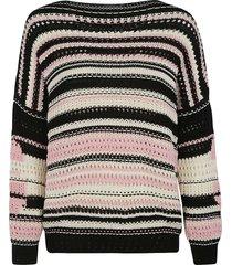 ermanno scervino stripe woven sweatshirt