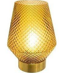 lampa stołowa led żółta
