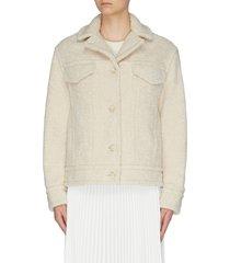 sherpa faux shearling jacket