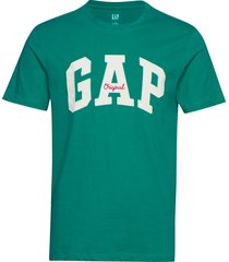 gap logo crewneck t-shirt t-shirts short-sleeved grön gap