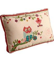 almofada estampada coruja de tecido de algodão com enchimento