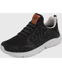 tenis training negro-blanco skechers relaxed fit