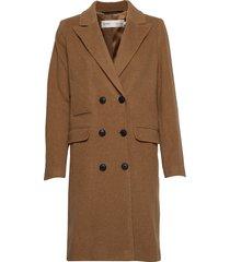 zelieiw classic coat wollen jas lange jas bruin inwear