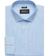 awearness kenneth cole blue print slim fit dress shirt