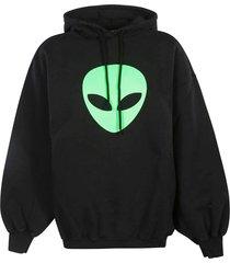 balenciaga alien head print hoodie