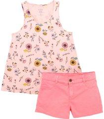 conjunto corto rosa  offcorss