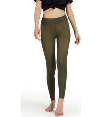 calzedonia soft touch total comfort opaque leggings woman green size s/m