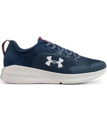 zapatilla azul under armour essential ua  charged
