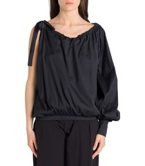 federica tosi one-shoulder blouse