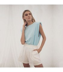 t-shirt azul para mujer muscle tee emma muscle tee emma azul-s