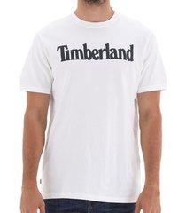 t-shirt korte mouw timberland k-r brand linear tee