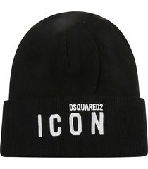 dsquared2 icon embroidered beanie