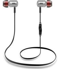 audífonos bluetooth, s8 sport in-ear auricular inalámbrico anti-sudor auriculares de metal audifonos bluetooth manos libres  v4.1 auriculares 1 para 2 teléfonos con micrófono (plata)