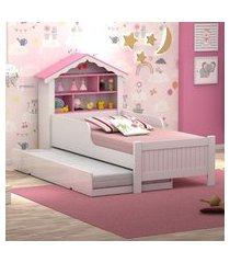 bicama casa menina rosa solteiro casah