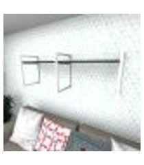 prateleira industrial para sala aço branco prateleiras 30 cm preto modelo indb06psl