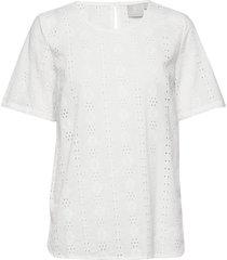 blouse-woven blouses short-sleeved vit brandtex