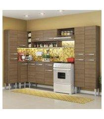 cozinha completa de canto reto madesa emillylovecom armário e balcão 13 portas 1 gaveta rustic rustic