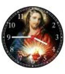 relógio de parede sagrado coração de jesus religiosidade