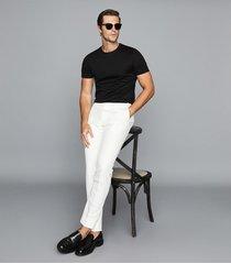 reiss balham - mercerised crew neck t-shirt in black, mens, size xxl
